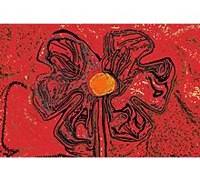 red flower power Photographic Print