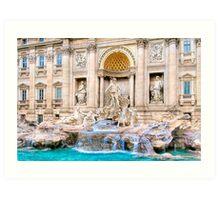 Memorie di Roma - Trevi Fountain Art Print