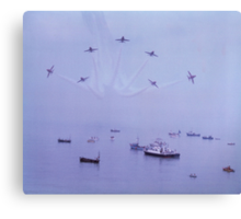 Out of The Haze, The Red Arrows, Broadstairs, Kent 1980 Canvas Print