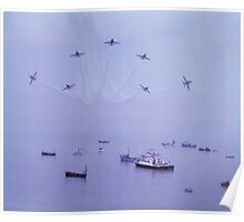 Out of The Haze, The Red Arrows, Broadstairs, Kent 1980 Poster