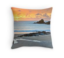 Lone Fisherman Throw Pillow