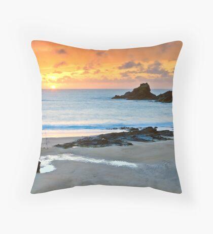 Lone Fisherman Throw Pillow