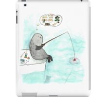 Fishing seal iPad Case/Skin