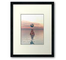 Earth Above The Sea Framed Print