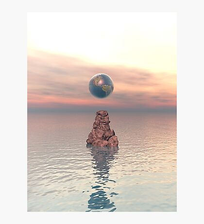 Earth Above The Sea Photographic Print