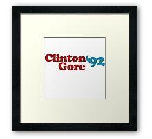 Clinton gore 92 Framed Print