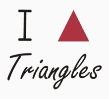 I love Triangles Kids Tee