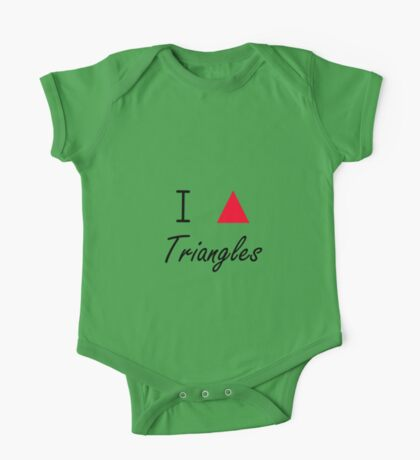 I love Triangles One Piece - Short Sleeve