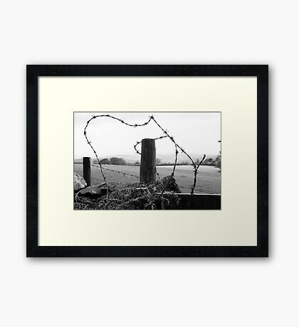 few shades of grey ,,,wired up  Framed Print