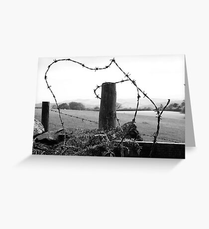 few shades of grey ,,,wired up  Greeting Card