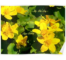 Buttercups  greetings Poster