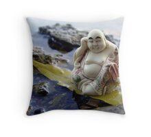River Buddha Throw Pillow