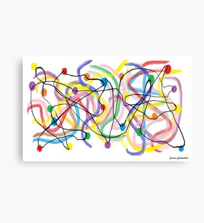 Twinkle Lights Fiasco Canvas Print