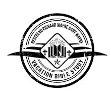 Unbreakable Kimmy Schmidt - Richard Wayne Gary Wayne Vacation Bible Study Black on White Photographic Print