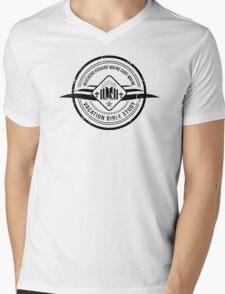 Unbreakable Kimmy Schmidt - Richard Wayne Gary Wayne Vacation Bible Study Black on White Mens V-Neck T-Shirt