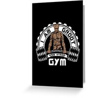 I Am Groot Guardians Of The Galaxy Gym Bodybuilding Mashup Greeting Card