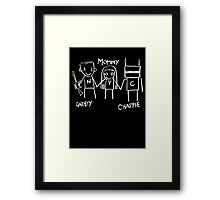 Daddy Mommy Chappie Framed Print