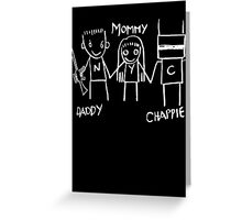 Daddy Mommy Chappie Greeting Card