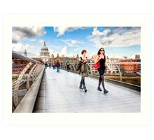 London Vogue - London Skyline and St. Paul's Cathedral Art Print