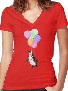 I can believe I can fly Women's Fitted V-Neck T-Shirt