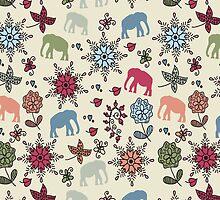 Elephants pattern by luizavictorya72