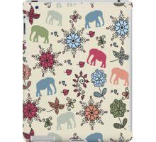 Elephants pattern iPad Case/Skin