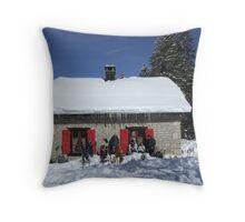 Carroz shelter, Jura, Switzerland Throw Pillow