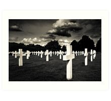 Fields Of The Lost - American Cemetery Art Print