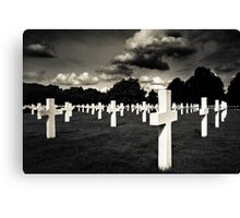 Fields Of The Lost - American Cemetery Canvas Print