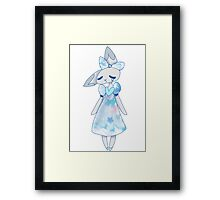 Sad rabbit Framed Print