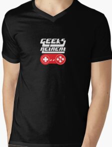 Geeks Retreat Logo Tshirt Mens V-Neck T-Shirt