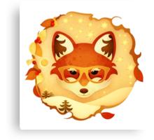 Christmas Wildlife: Foxy Canvas Print