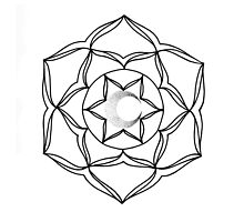 Mandala Style Design With Moon by elliegillard