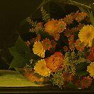 Valentine Bouquet on canvas by Gilberte