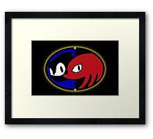 Sonic 3+k logo Framed Print