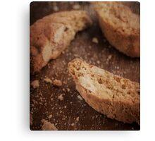 Still life of Italian almond cookies Canvas Print