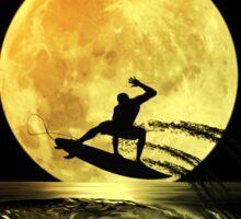 Luna tras surfer Sticker