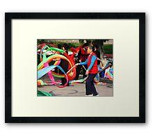 Banner Twirler Framed Print