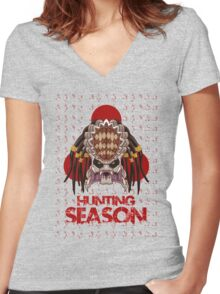 Hunting Season Women's Fitted V-Neck T-Shirt