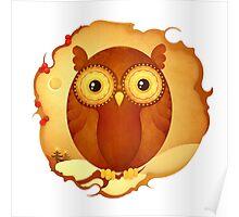 Christmas Wildlife: Tawny Owl Poster