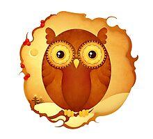 Christmas Wildlife: Tawny Owl Photographic Print