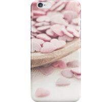 Romantic heart shaped sprinkles iPhone Case/Skin
