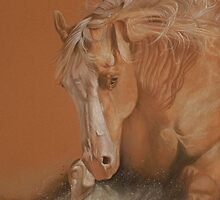 Palomino Cutting Horse by Gail Finger