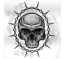 Chained Skull Poster