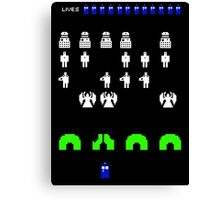 Space Invaders | Doctor Who Canvas Print