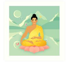 Sacred World: Golden Yogi Art Print