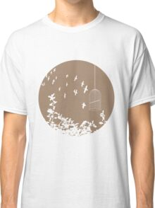 Flying Free 2 Mocha Large Classic T-Shirt