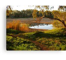 Sundown at Chinaman's Pool, Gascoyne River, Carnarvon, Western Australia Canvas Print