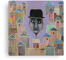 man comes out the chimney Canvas Print