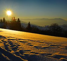 Sunset in Carpathian by Karl Smutko